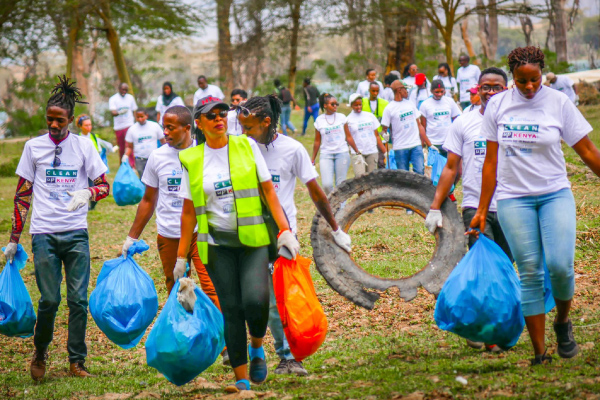 UN Environment and UNESCO supports the work of Clean Up Kenya in Naivasha cleanup campaign