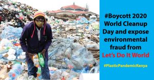 Read more about the article #Boycott 2020 World Cleanup Day and expose environment fraud by NGOs from the Global North