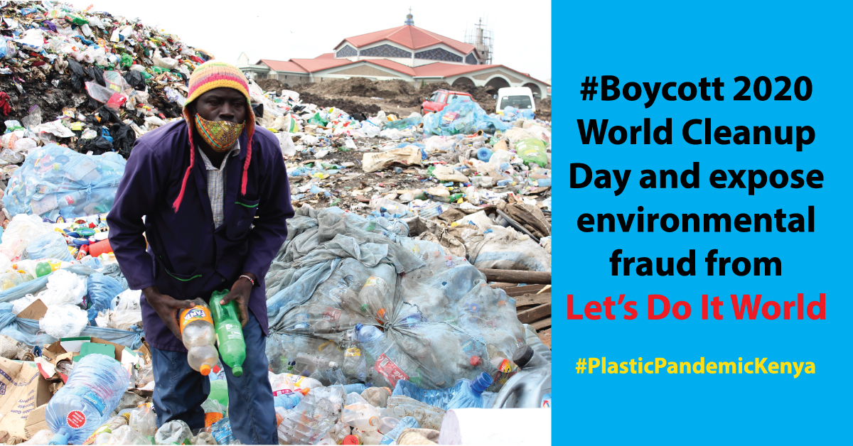 #Boycott 2020 World Cleanup Day and expose environment fraud by NGOs from the Global North